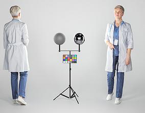 Female medical doctor walking 132 3D asset