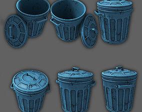 3D trash can soda