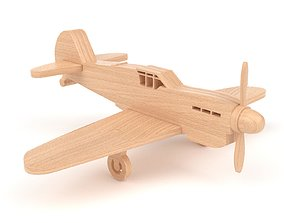 3D model Wooden toy airplane 05