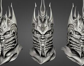 3D print model game-accessories Lich King - Helmet