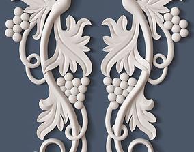 3D Decorative Scroll ornament