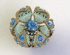 3D print model Opening Flower Ring