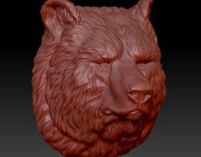 3D print model the head of the bear