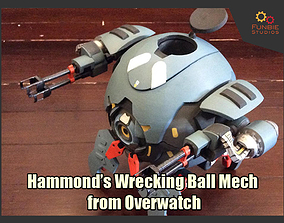 Hammond Wrecking Ball Mech from Overwatch 3D print model