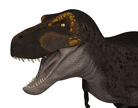 Tyrannosaurus rex 3D model rigged game-ready