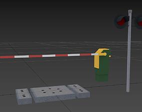 3D asset Raiload Crossing Kit