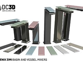 3D model Phoenix Zimi Basin Vessel Mixer Taps