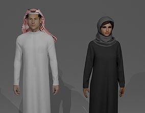 3D model SAUDI ARABIA TRADITIONAL CLOTHING STYLE
