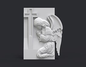 3D printable model Praying Angel Tombstone