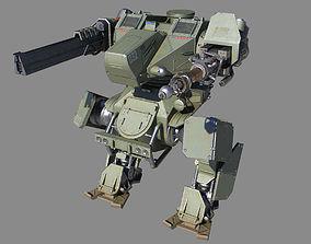 3D asset Mech Tank LP animated