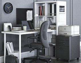 3D model KALLAX office workplace with FLINTAN chair