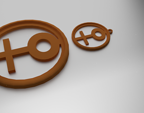 Glass Coaster Female and Pendant 3D print model