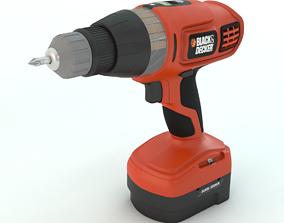 3D model Cordless Drill Black and Decker