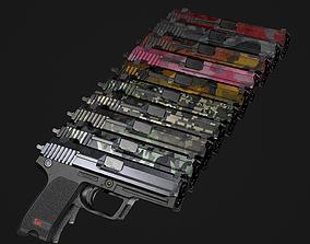 3D model HK USP GameReady