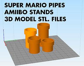 Amiibo display stand pipe Super Mario Bros 3D print model