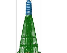 3D model Sputnik rocket R-7 Semyorka