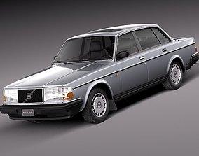 3D Volvo 240 sedan 1993