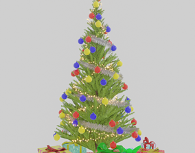 Christmas tree made using Blender 2 80 with 3D model 2