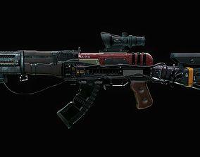 3D asset Assault Rifle - AK Volkodav