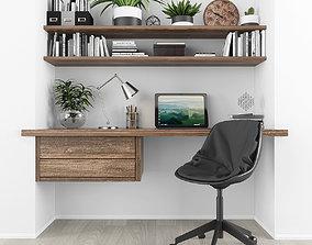 Workplace 3D asset realtime shelf
