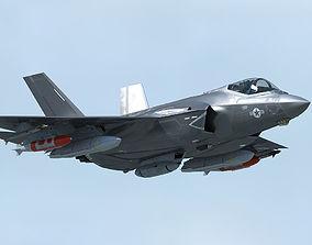 3D model F-35 CF-3 Lightning II with pilot