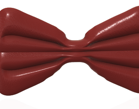 3D printable model bow tie elegant form cosplay 3