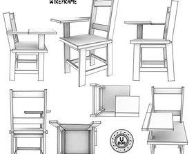 3D model School Desk FBXandOBJ