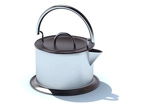 Modern Two Tone Metal Tea Kettle 3D