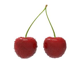 Cherry 3D asset realtime