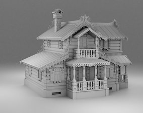 Carved house 3D printable model