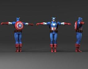 Captain America V2 3D model