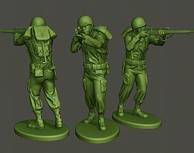 3D printable model American soldier ww2 shooting2 A5