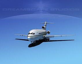 3D model Boeing 727-100 Corporate Jet 5
