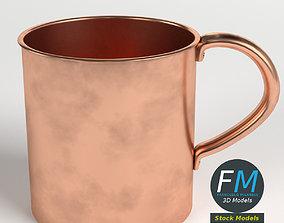 3D model Pure copper tumbler