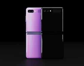 Samsung Z Flip Foldable in all official colors 3D asset
