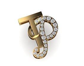 3D print model TP letter diamond pendant mat day chu TP