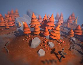3D model Autumn Forest