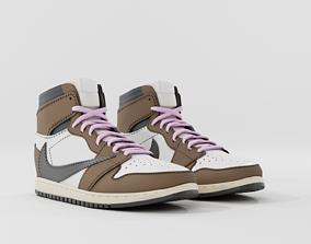 Nike Jordan 1 - Travis Scott - Shoe - Sneaker 3D