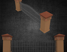 3D asset Entry gates for any residence or commercial