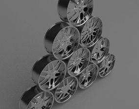 3D model 10 Wheel Rims 021-030