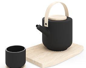 Stelton Theo Teapot and Tea Mug 3D