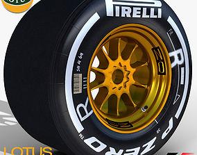 3D asset E23 Medium Rear tyre