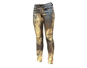 Unreal Pants Gold and Brown 3D model