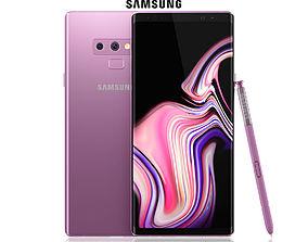 3D Samsung GALAXY Note 9 Lavender Purple