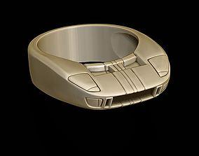 3D printable model car ring 36