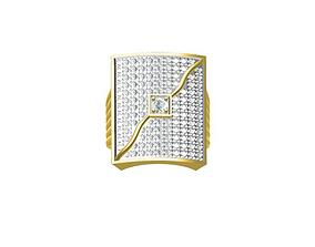 SQUIRE PRONG GENTS RING 3D print model