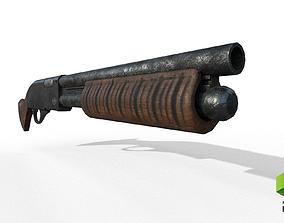 3D asset Sawed Off Shotgun