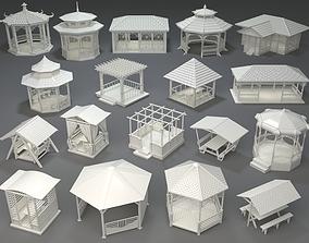 Arbors -part-3- 18 pieces 3D model