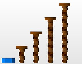M5 screws and nut collection 3D print model