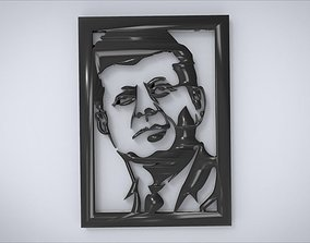 3D printable model Wall decoration with John F Kennedy